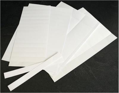 Blanco stroken voor badge (65 mm)