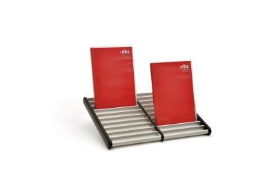 DVD-houder 2 rijen, max. 20 DVD's, B320 X D252 mm