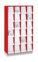 Tijdschriftenkast met 24 vakken