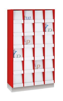 Tijdschriftenkast met 24 vakken  kunstof klep decor 1
