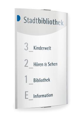 Informatiebord Frankfurt wandmontage