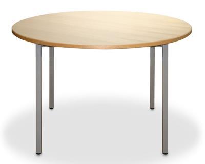 Ronde tafel met metalen frame