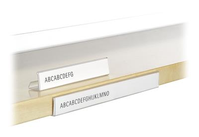 Rubriceringsstriphouder houten planken, B130 x H20 mm